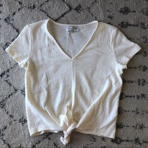 Madewell Tie-front V-neck top